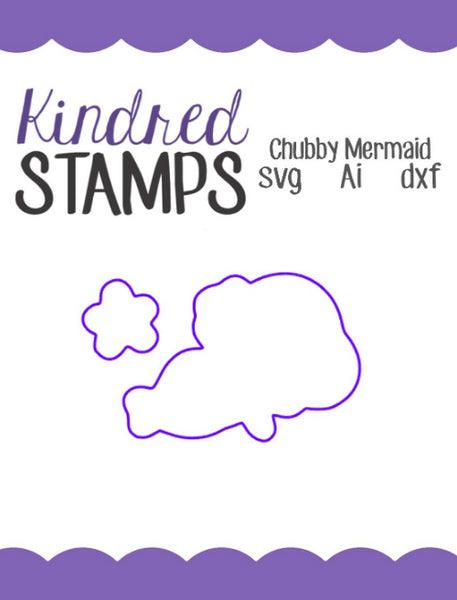 Chubby Mermaid Cut Files - SVG - AI - dxf