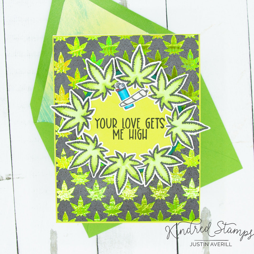 Pot Leaves Stencil