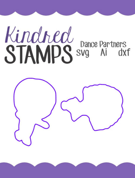 Dance Partners Cut Files - SVG - AI - dxf