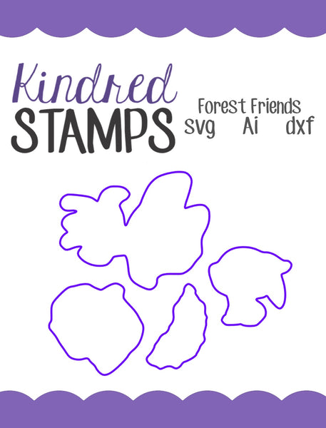 Forest Friends Cut Files - SVG - AI - dxf
