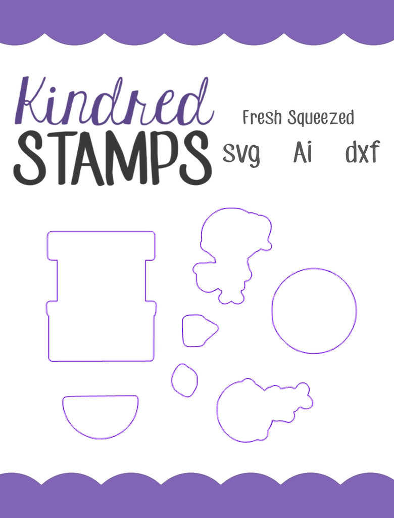 Fresh Squeezed Cut Files - SVG - AI - dxf