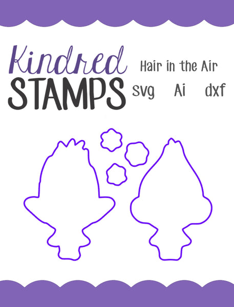 Hair in the Air Cut Files - SVG - AI - dxf