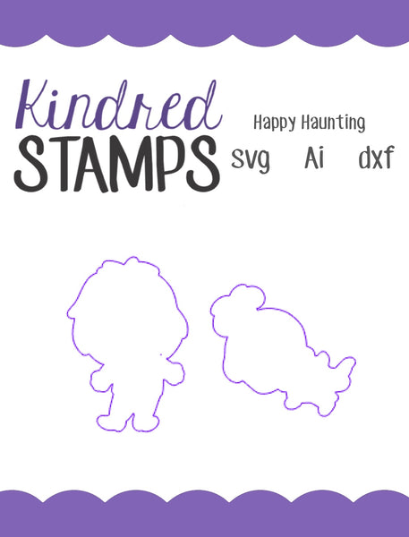 Happy Haunting Cut Files - SVG - AI - dxf