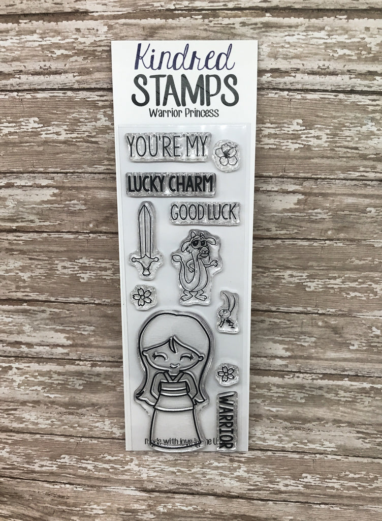 2x6 Warrior Princess Clear Rubber Stamp Set