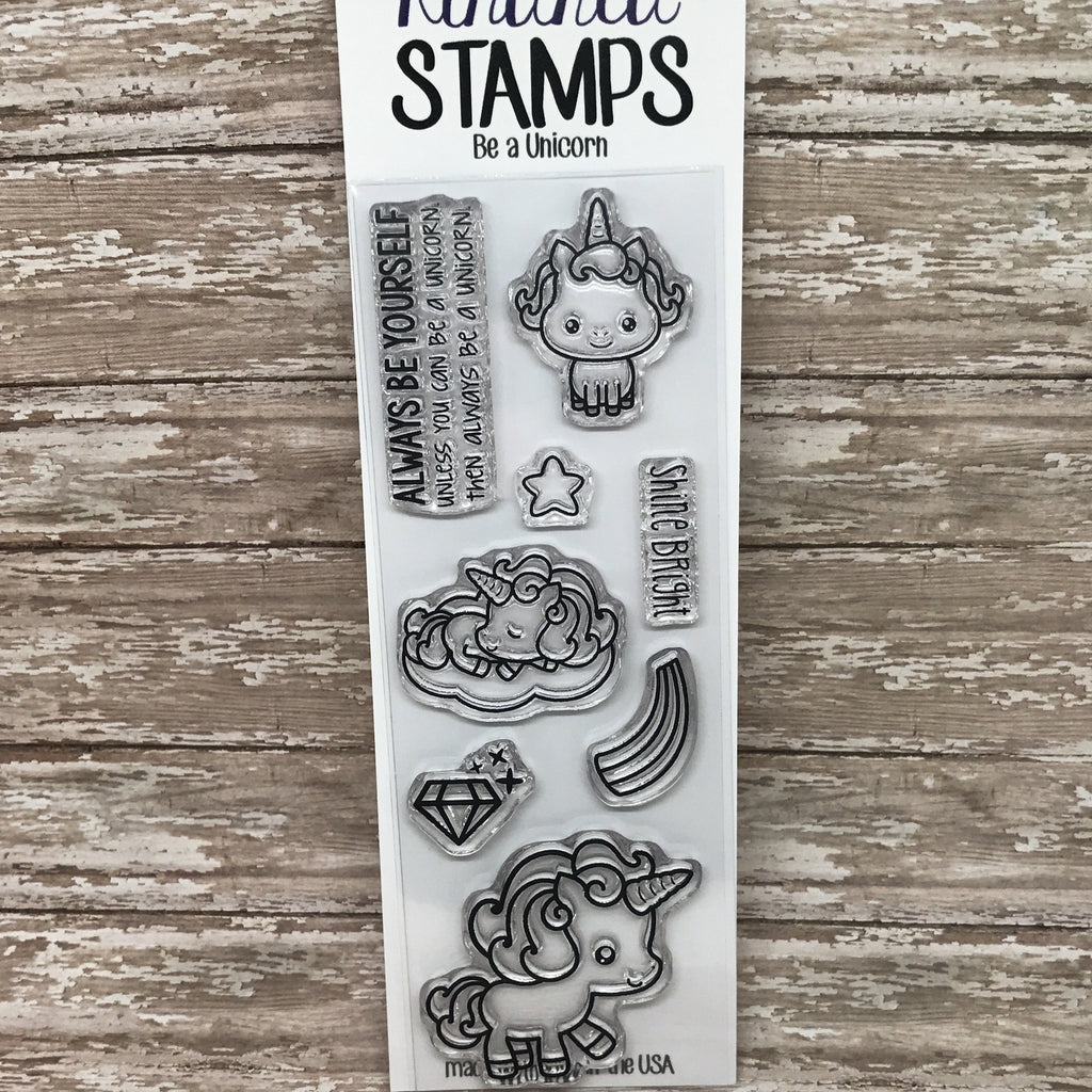 2x6 Unicorn Clear Rubber Stamp Set