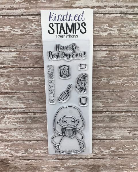 Tower Princess 2x6 Clear Rubber Stamp Set