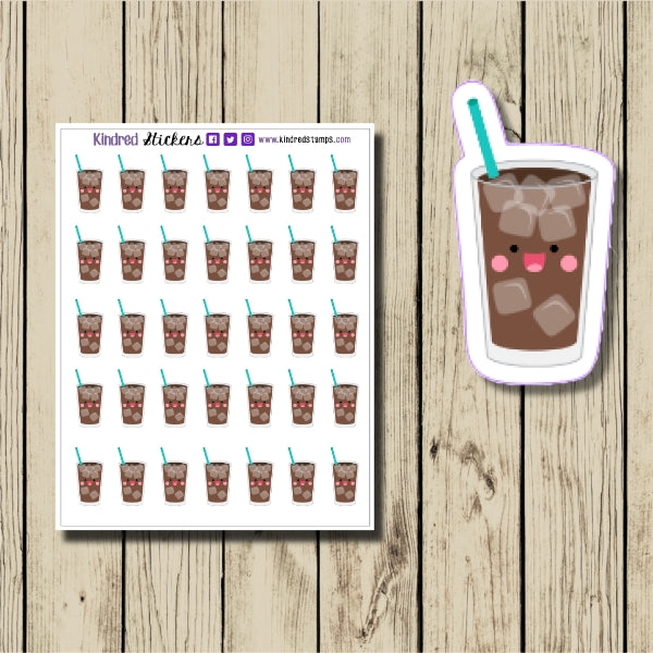 Iced Coffee Sticker Sheet
