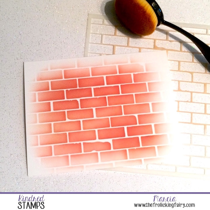 Distress Brick Stencil