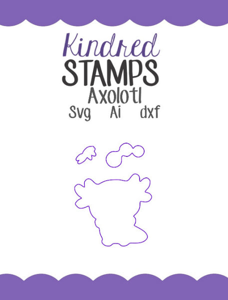 Axolotl Cut Files - SVG - AI - dxf