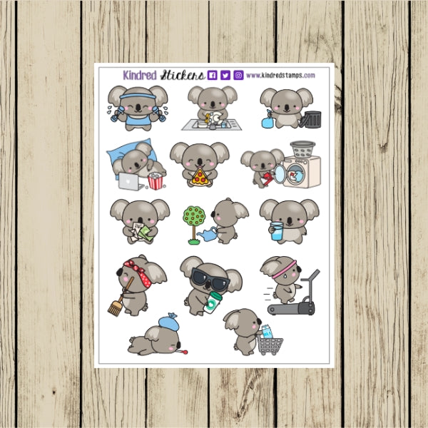 Koala Planner Sticker Sheet