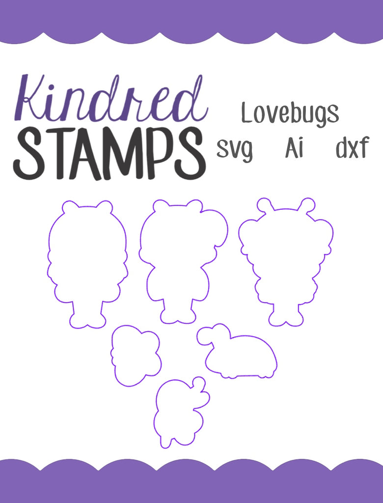 Lovebugs Cut Files - SVG - AI - dxf