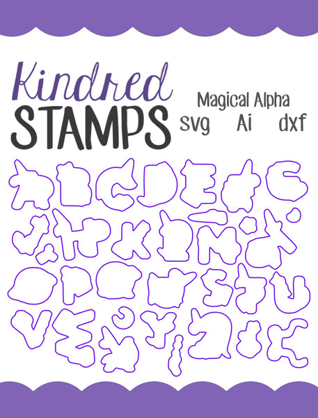 Magical Alphabet Cut Files - SVG - AI - dxf