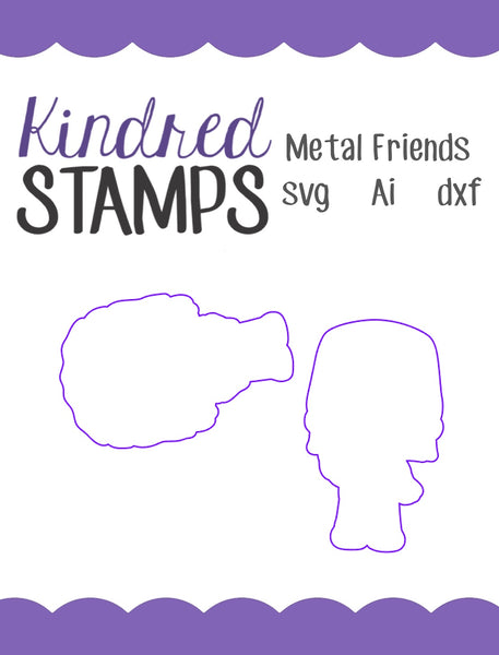 Metal Friends Cut Files - SVG - AI - dxf