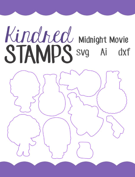 Midnight Movie Cut Files - SVG - AI - dxf