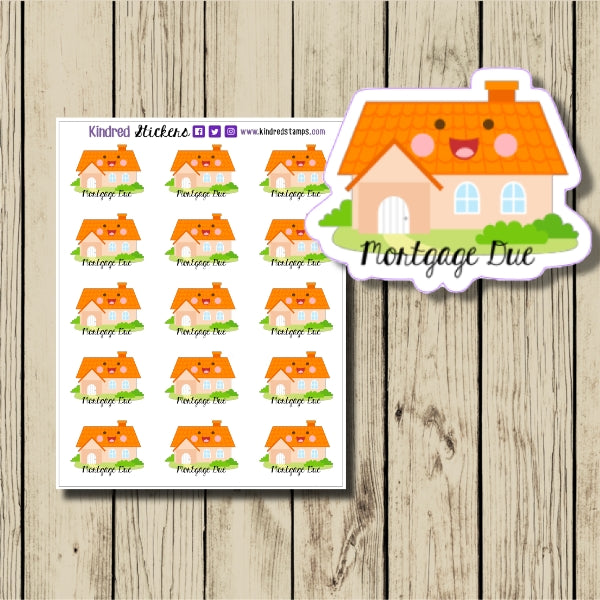 Mortgage Due Sticker Sheet