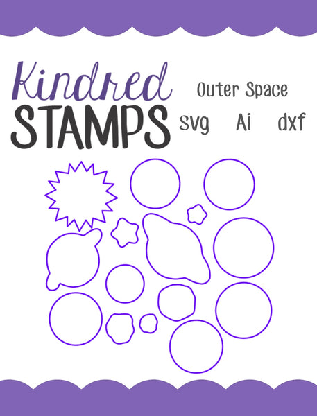 Outer Space Cut Files - SVG - AI - dxf