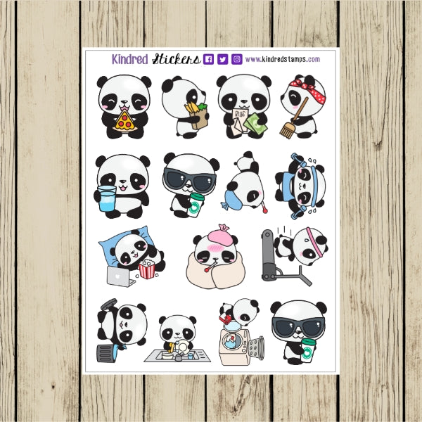 Panda Planner Sticker Sheet
