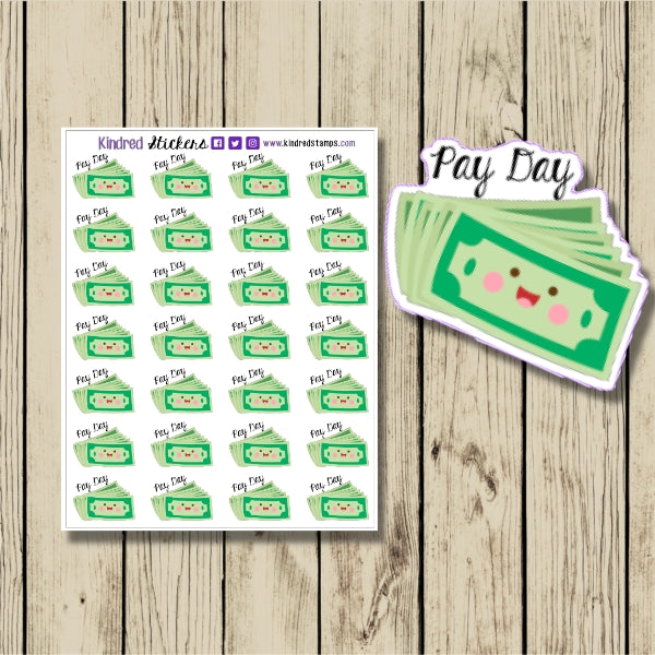 Pay Day Sticker Sheet