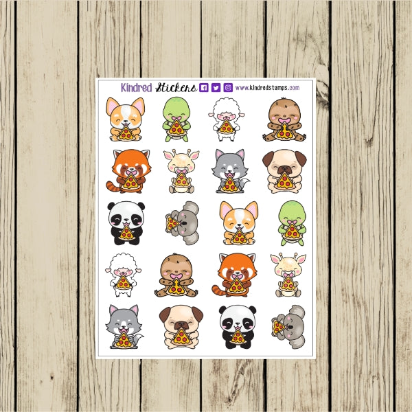 Pizza Animals Planner Sticker Sheet