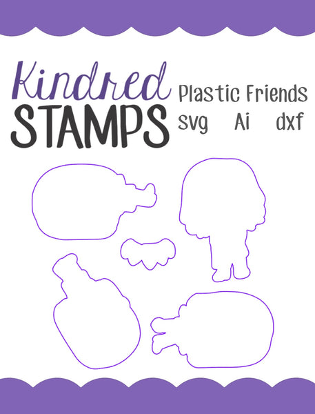 Plastic Friends Cut Files - SVG - AI - dxf
