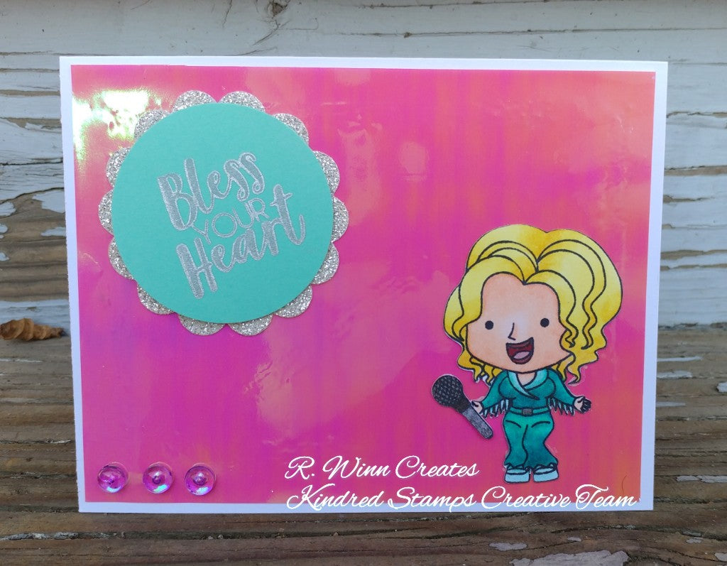 3x4 Bless Your Heart Stamp Set