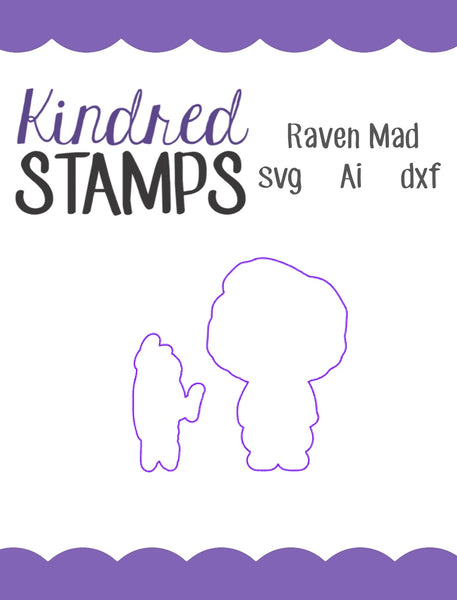 Raven Mad Cut Files - SVG - AI - dxf