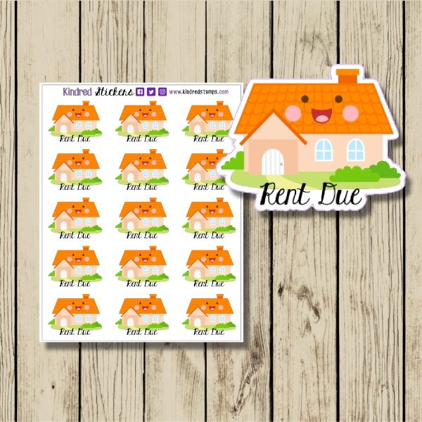 Rent Due Sticker Sheet