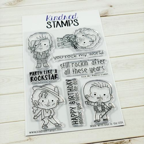 rock musician clear stamp guitar player singer