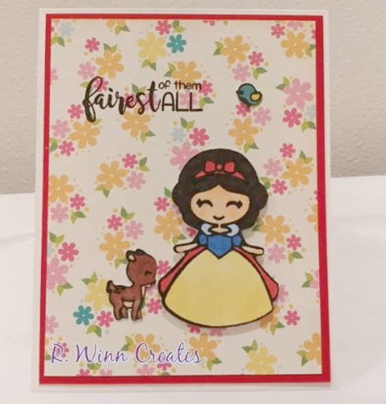 2x6 Fair Princess Clear Rubber Stamp Set
