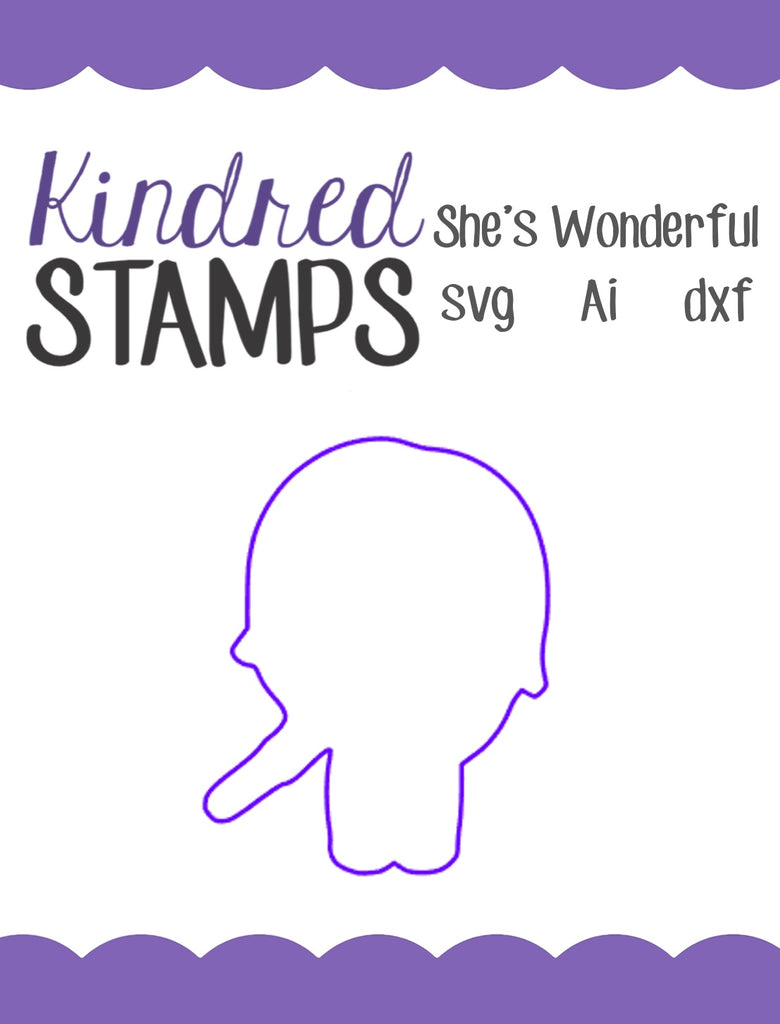 She's Wonderful Cut Files - SVG - AI - dxf