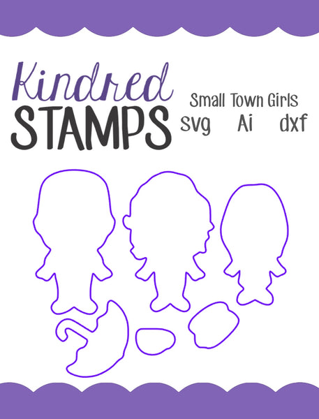 Small Town Girls Cut Files - SVG - AI - dxf