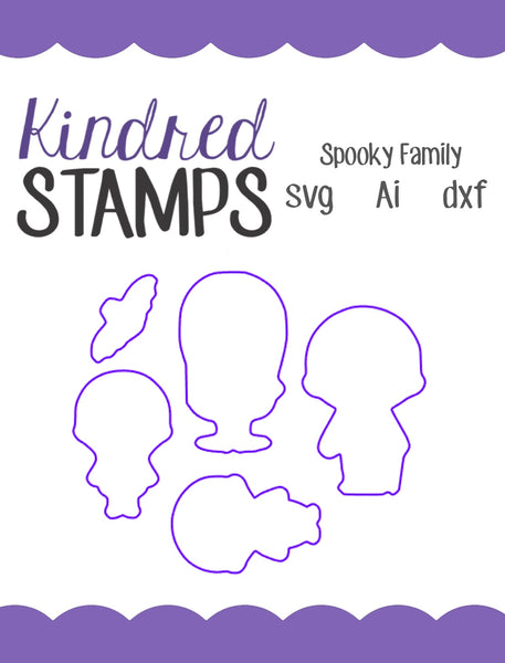 Spooky Family Cut Files - SVG - AI - dxf