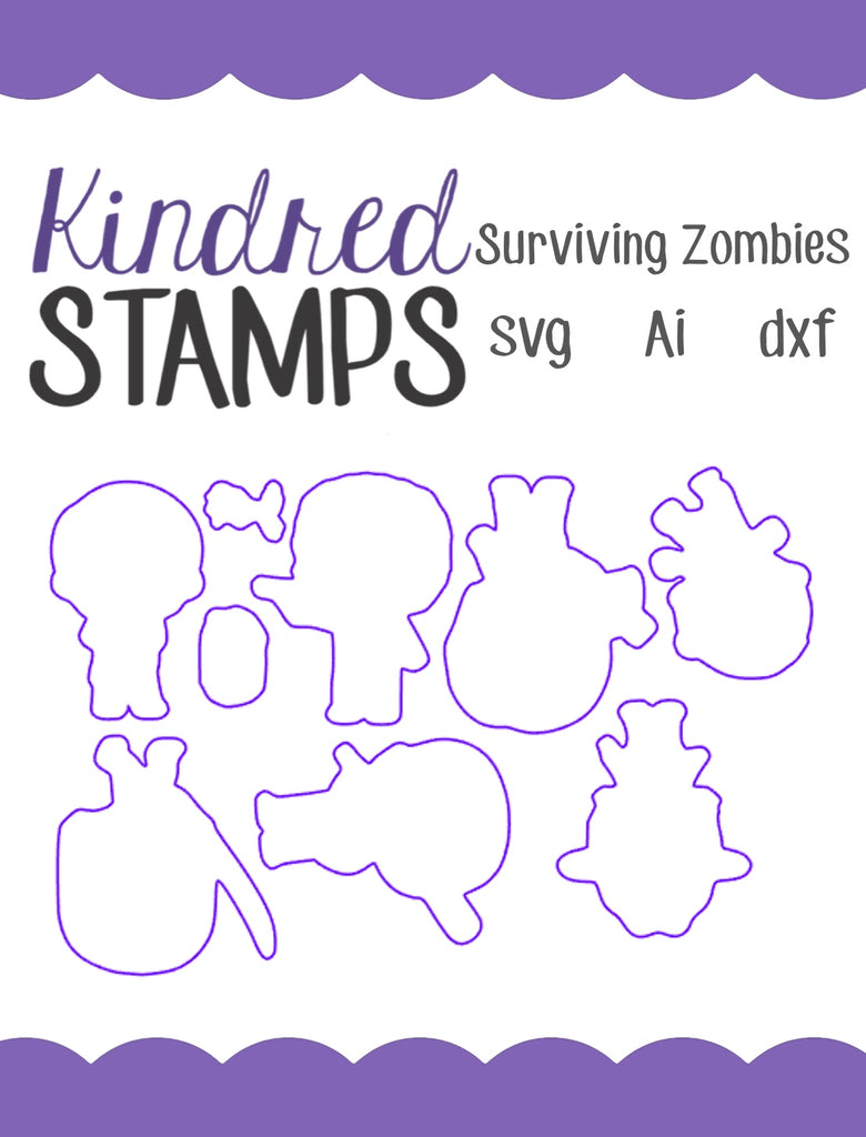 Surviving Zombies Cut Files - SVG - AI - dxf
