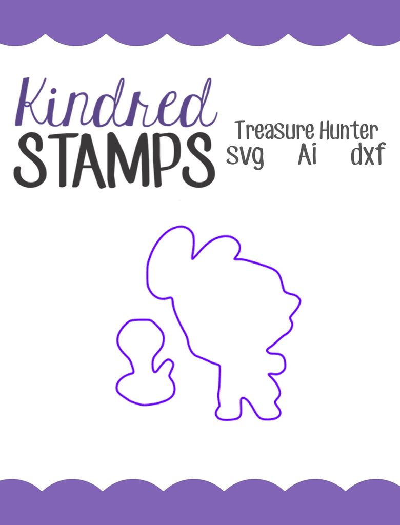 Treasure Hunter Cut Files - SVG - AI - dxf