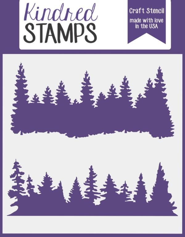Kindred Stamps Forest Stencil