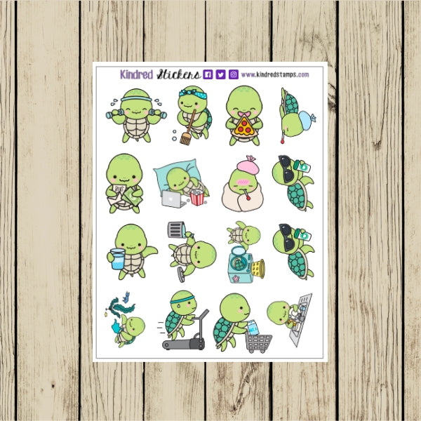 Turtle Planner Sticker Sheet