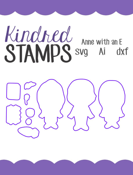 Anne with an E Cut Files - SVG - AI - dxf