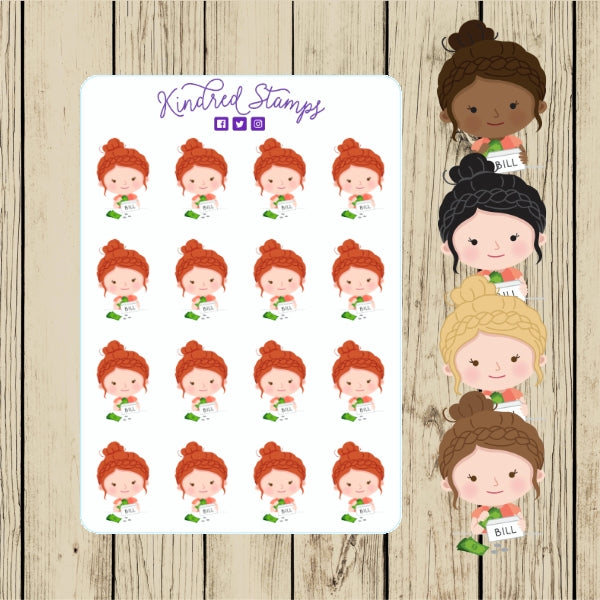 Planner Annie Bills Stickers