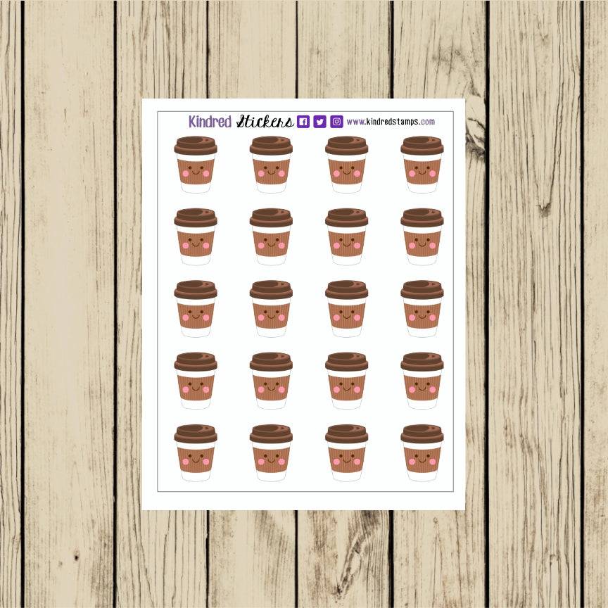 Hot Coffee Sticker Sheet