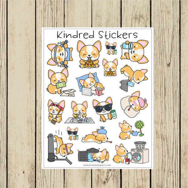 Cute Corgi Stickers