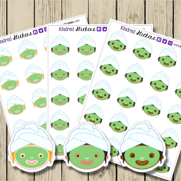 Face Mask Sticker Sheet