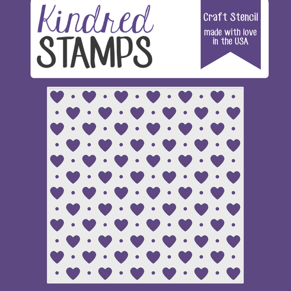 Kindred Stamps Heart and Dots Stencil