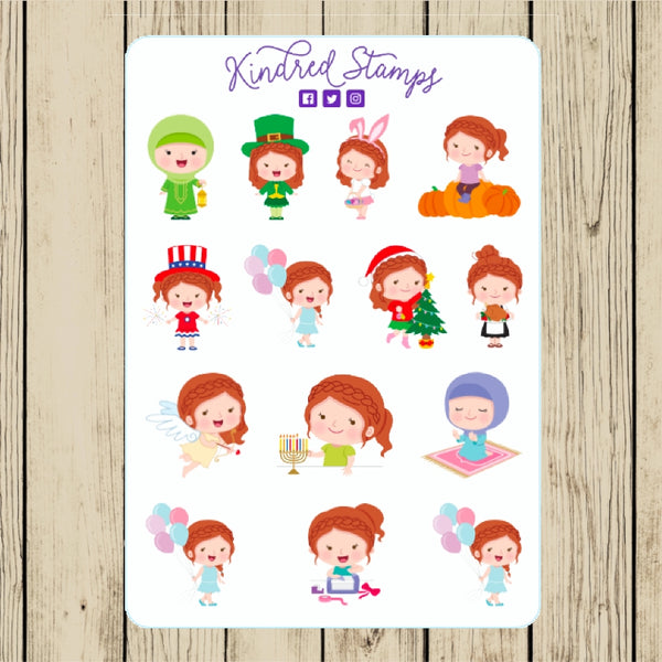 Planner Annie Holiday Week Stickers