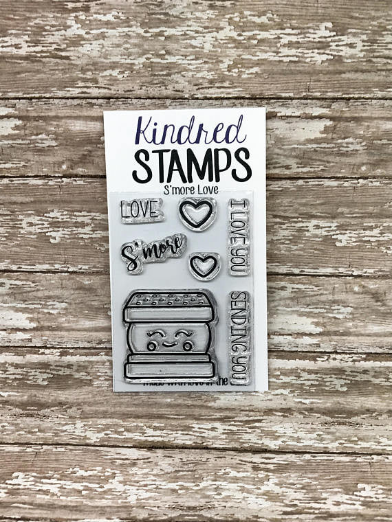 2x3 S'mores Rubber Stamp Set