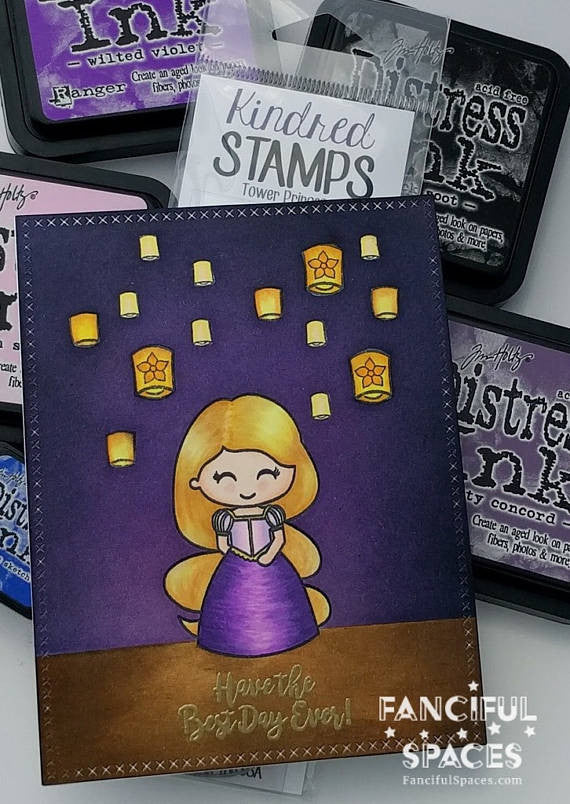 2x6 Tower Princess Clear Rubber Stamp Set