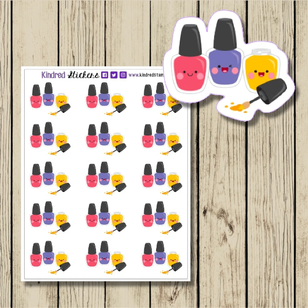 Nail Polish Sticker Sheet