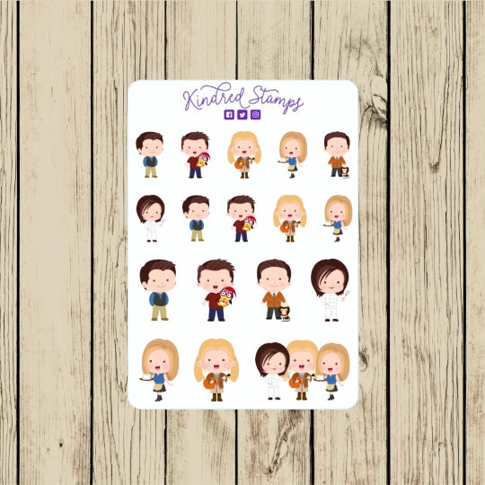The one with the Friend Sticker Sheet