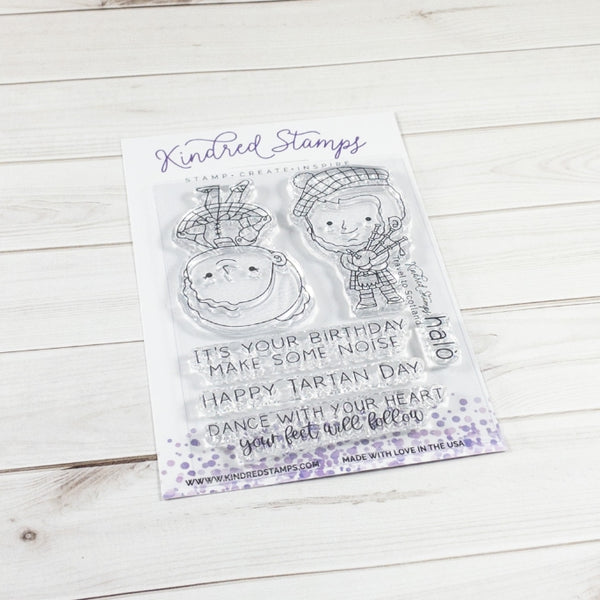 2x6 Scottish Princess Clear Rubber Stamp Set