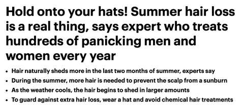 Summer hair loss fixes
