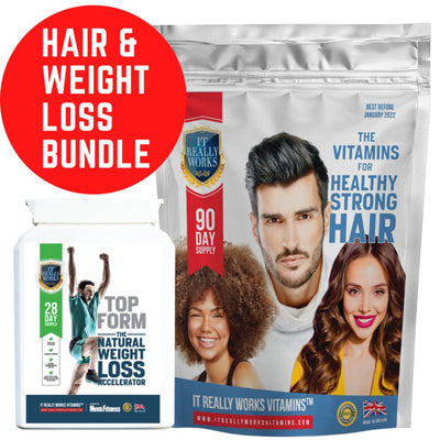 BUNDLE: The Vitamins for Healthy Strong Hair and Top Form Weight Loss Accelerator - Vitamins